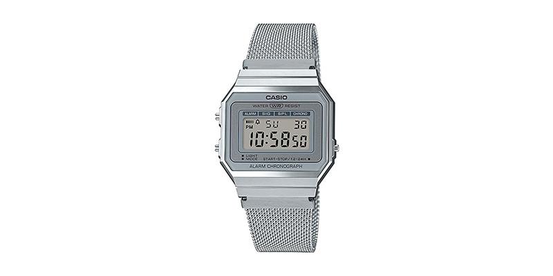 Casio - A700WEM-7AEF Unisex Silver Stopwatch