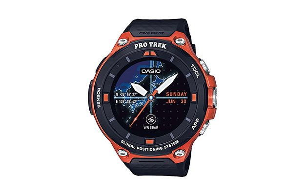 Casio - Men's 'Pro Trek' Resin Outdoor Smartwatch