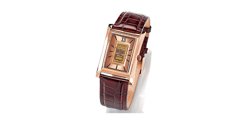 Stauer - Men's Alta Swiss Movement Gold Ingot Watch