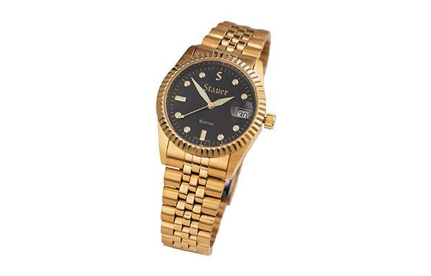 Stauer - Men's Swiss Noire Bienne Gold Finished Watch