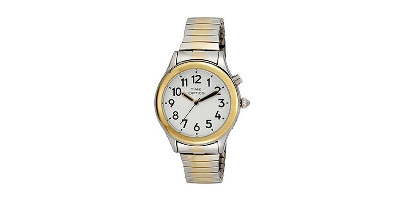 TimeOptics - GWC07TT Women's Talking Two-Tone Bracelet Watch