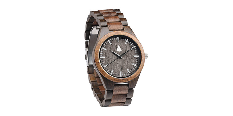 Treehut - Men's Walnut and Ebony Wooden Watch
