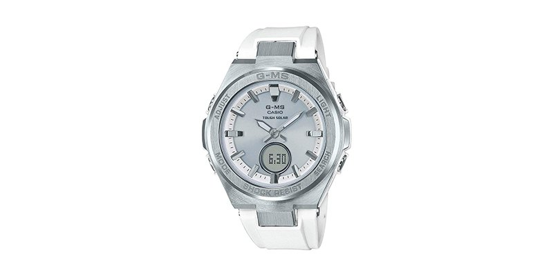 Casio - Baby-G G-MS White and Silver-Tone Watch MSGS200-7A