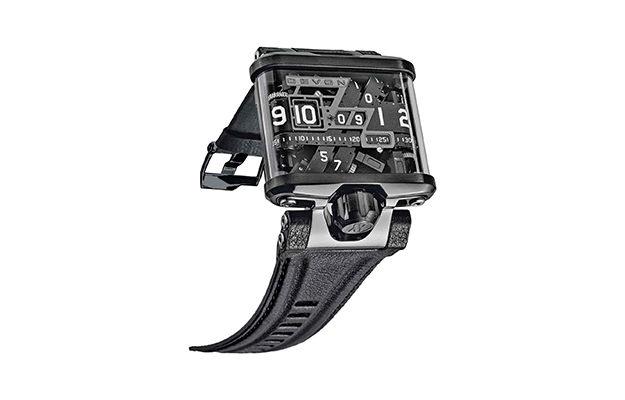 Devon - Tread1 E Men's Time Belt Microstep Motor Watch