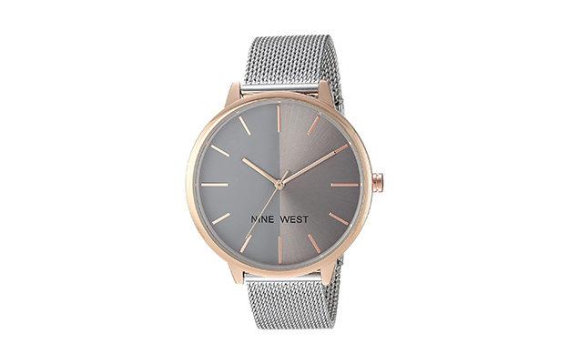 Nine West - Women's NW-1981 Sunray Dial Mesh Bracelet Watch