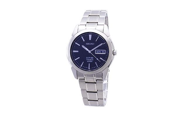 Seiko - Men's SGG729 Titanium Bracelet Watch